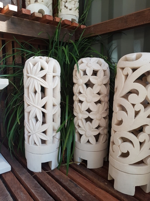 CasaPandan Tall Limestone Dome Lanterns -Limestone for interior and outdoor design. Add power through a hole in the bottom or add a candle for ambience. ENJOY.