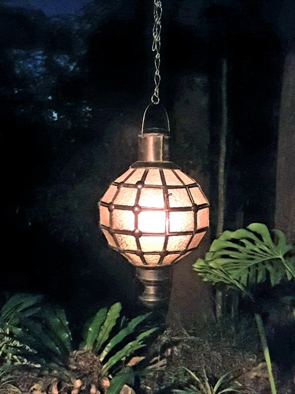 Round Cafe Light or Lantern - Glass and Brass- 30x20cm - handcrafted in Bali. Each light has a large door on the side for access.