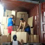 Packing the container - lanterns.statue.stone - casapandan.com.au