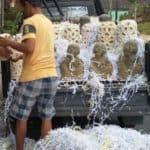 Limestone and Statue pickup in Bali for CasaPandan.com.au - Lanterns.Statue.Stone