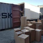 Unpacking the container in Brisbane for CasaPandan.com.au