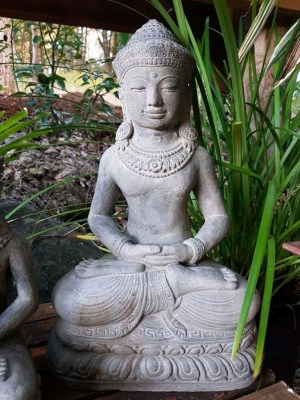 Peaceful Buddha - 40x27cm from CasaPandan in your home or garden will give such calm and serenity. These Buddhas are handcrafted by the talented Balinese craftsmen.
