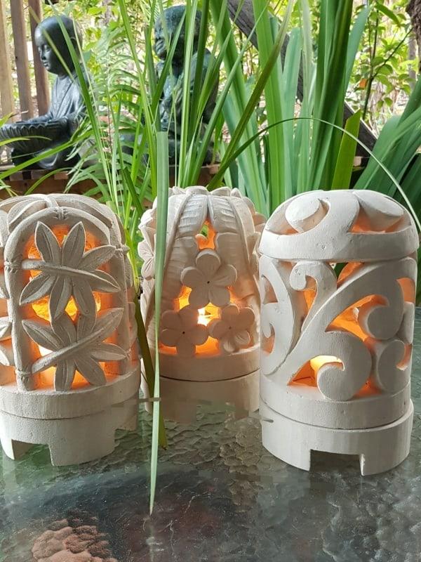 limestone lanterns – 25x15cm Domes from CasaPandan