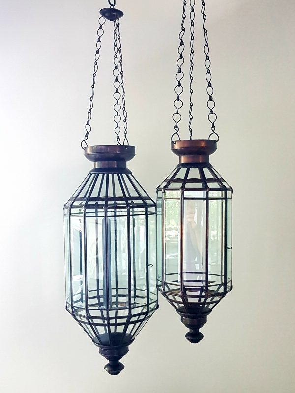 Balinese light - Bevelled GLASS - 55cm & 70cm also vailable in 40cm