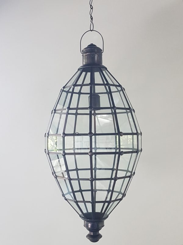 Pendant Teardrop Light - Glass and Brass- CPL39 - as they are handcrafted by the Balinese they will not rust over time. Each light has a large door on the side for access.