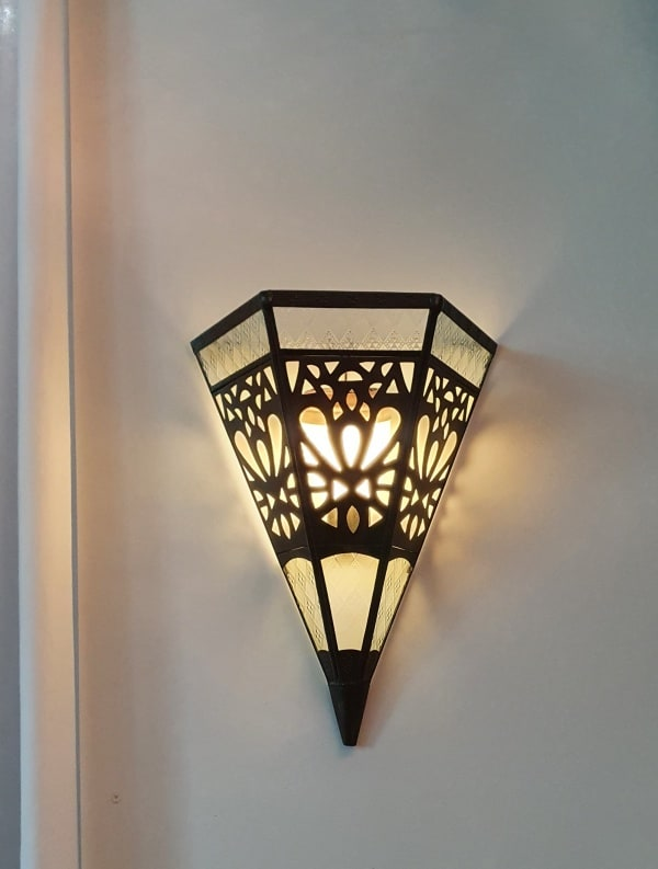 Decorative Brass Wall light 46x28cm - CPL45 - Each brass lantern has been handcrafted by a Balinese craftsman and WILL NOT RUST
