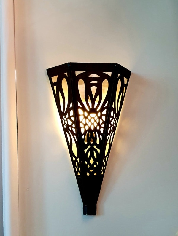 Bronze Wall Light 50x30cm - CPL43 - handcrafted by a Balinese craftsman in brass and WILL NOT RUST. Perfect for your outdoor spaces.
