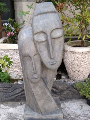 Loving Couple Balinese statue 100cm tall - CPS66-made from (GRC) a stone composite material. Add serenity to your home or garden!