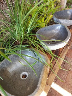 stone basins from CasaPandan for interiors and outdoor design. Create the ambience with the stone basin in your bathroom or garden.